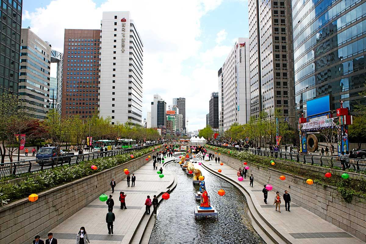 Canal Cheonggyecheon, Séoul