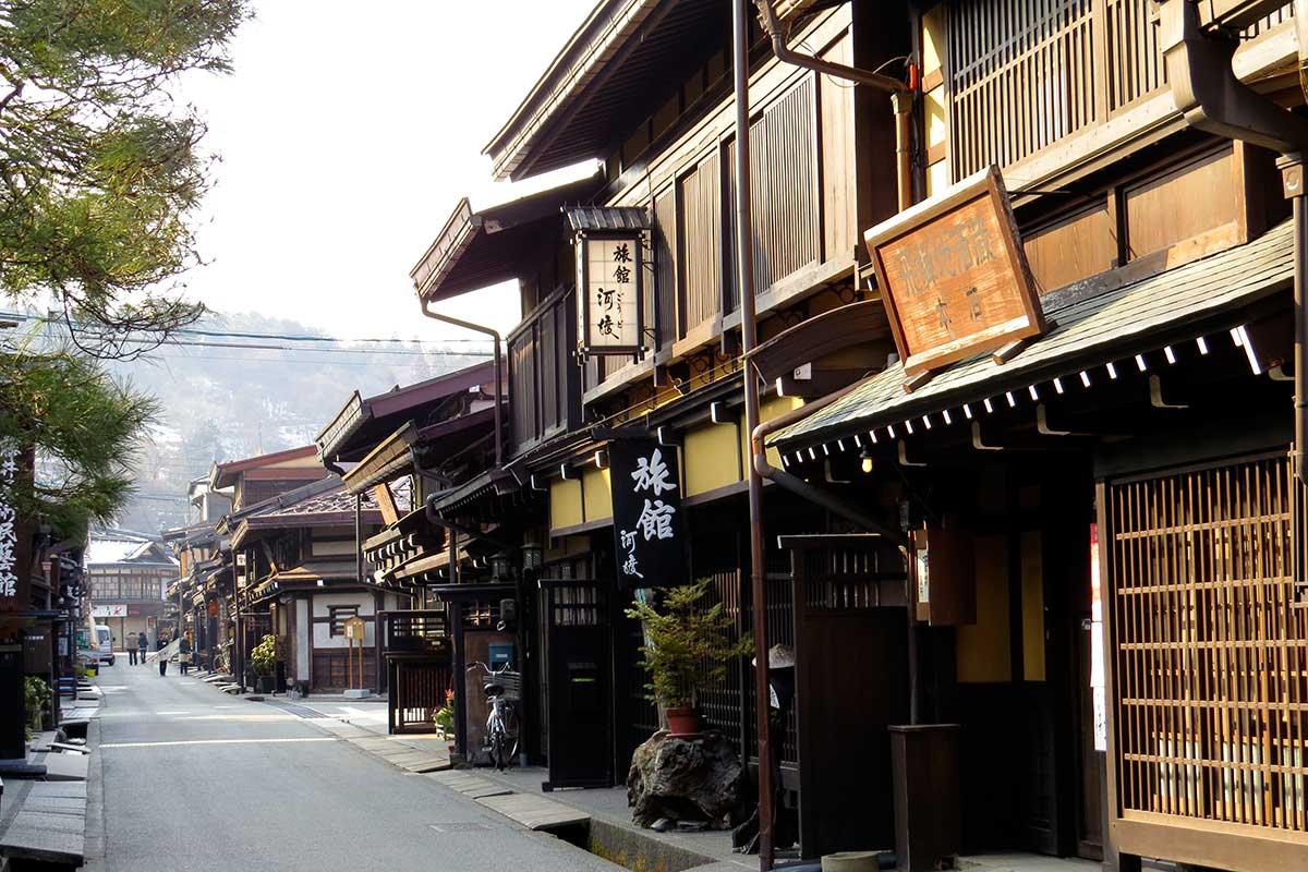 Le quartier traditionnel Kami-Sannomachi à Takayama