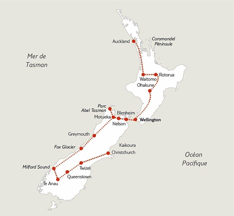 Nouvelle Zélande - Singapour - Circuit Découverte de la Nouvelle-Zélande