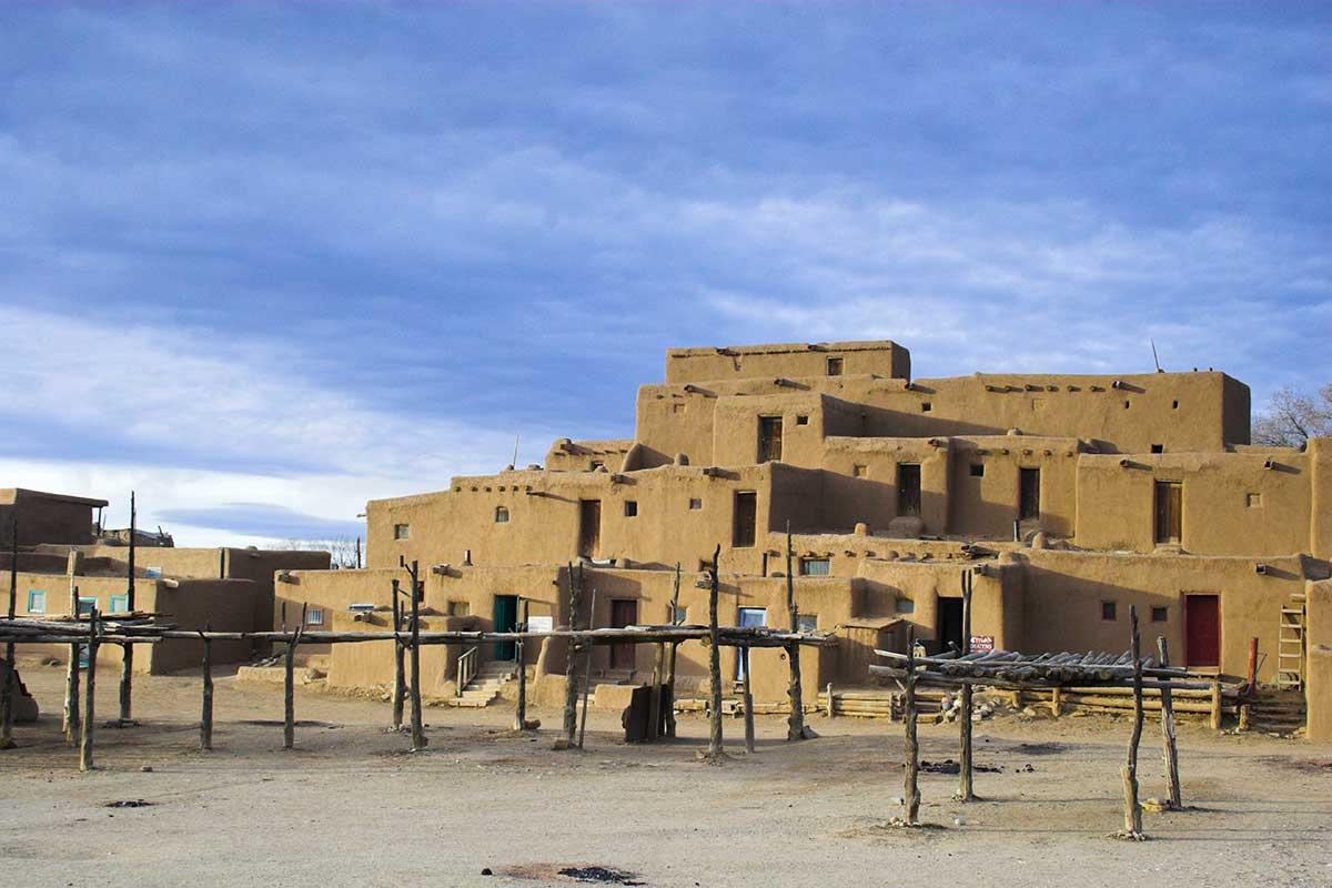 Pueblo de Taos, village indien